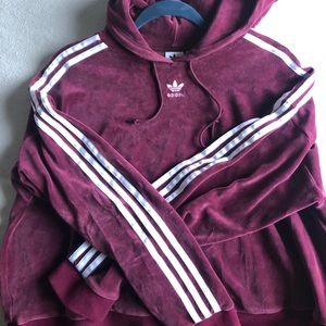 Adidas half cropped  pull over sweater hoodie
